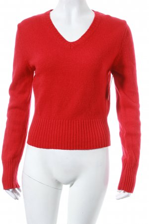 Benetton Wollpullover rot Casual-Look