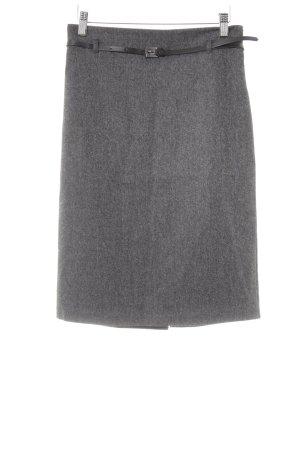 Benetton Wool Skirt grey business style