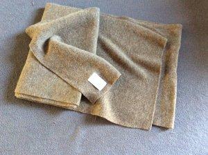 Benetton Bufanda de lana color bronce-marrón grisáceo