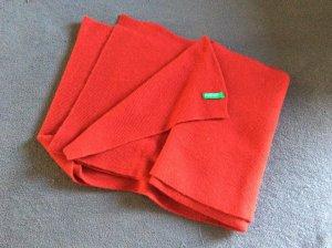 Benetton Bufanda de lana rojo oscuro