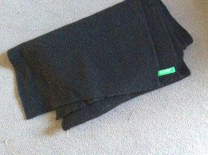 Benetton Bufanda de lana negro Lana