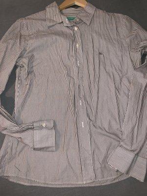 Benetton Long Sleeve Shirt white-brown