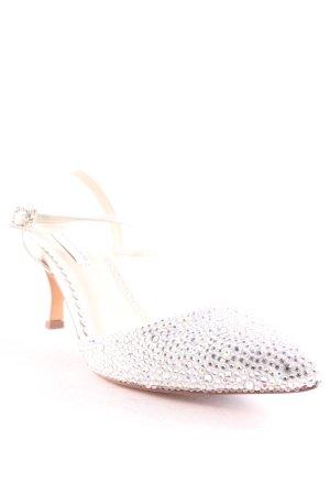 Benjamin Adams Riemchenpumps weiß-silberfarben Elegant
