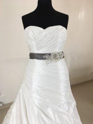 Benjamin Roberts Brautkleid Hochzeitskleid Standesamtkleid Gr. 40 Weis/Grau