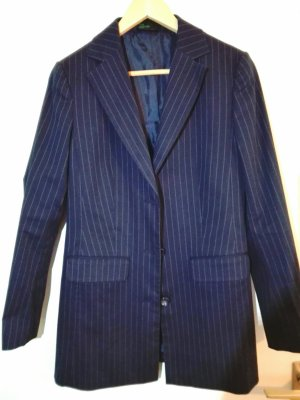 Benneton Damen Hosenanzug Gr. 38 - dunckel Blau mit Nadelstreifen