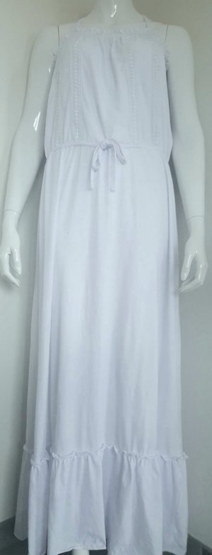 BENNETON , Kleid, lang ,Maxikleid , weiß, Gr.S-L