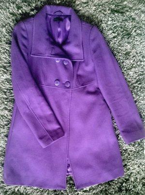 Bennetton-Mantel violett mit Wolle! Farbtupfer für den Herbst***