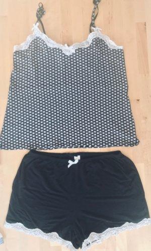 Pyjama zwart-wit Viscose