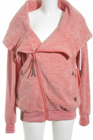 benter fashion Kapuzensweatshirt lachs abstraktes Muster Casual-Look