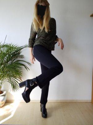 Zero Pantalon taille haute noir