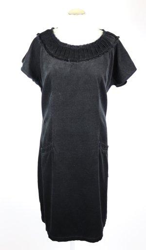 Bequem Ballonkleid Maxikleid Deerberg Größe L 42 Schwarz Pechschwarz Cord Sommerkleid Kleid