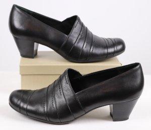 Medicus Chaussure à talons carrés noir cuir