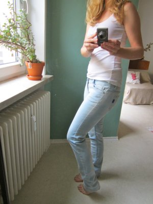bequem enge used Look Jeans