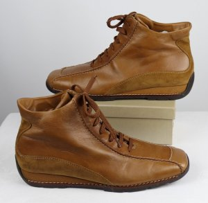 Bequem Schnürschuhe Ankle Boots Paul Green Größe 5,5 38,5 Hellbraun Braun Cognac Sport Leder  Stiefeletten