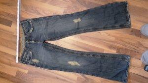 Bequeme Bootcut-Jeans von Fishbone – Größe 30 – schöne Details – lang