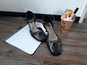 Jane Klain Tacones de tiras negro-marrón arena Imitación de cuero