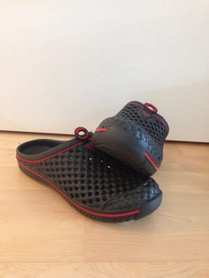 Clog Sandals black-red