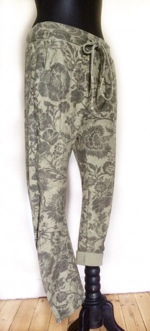 Made in Italy Trackies grey-pale green cotton