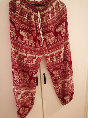 Harem Pants white-red