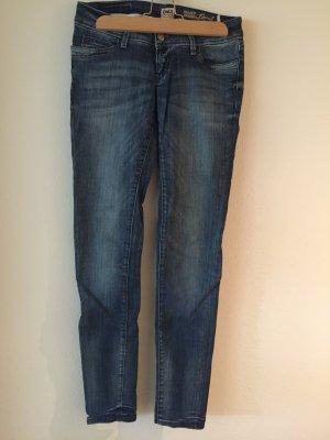 Only Pantalón de tubo azul acero-azul Algodón