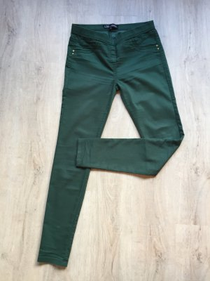 Bequeme Jeggings in grün