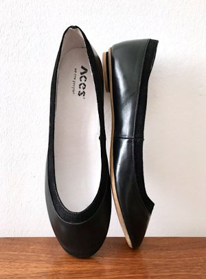 Aces of London Mary Jane Ballerinas black leather