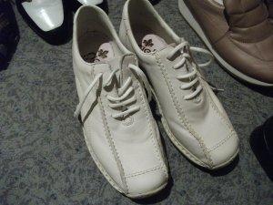 bequeme Leder Schnür- / Halb Schuhe, Gr. 37, weiß, von Rieker