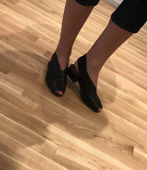 Bequeme Ledersandalen von Paul Green in schwarz, Größe 39