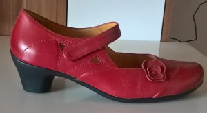 Theresia m. Mary Jane pumps rood-zwart Leer