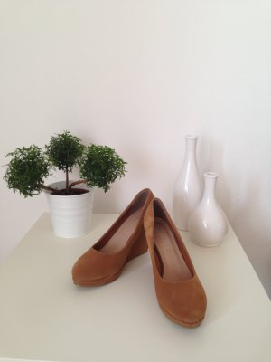 Bequeme Samt-Keilabsatz Schuhe