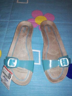 Pull & Bear Sandalias cómodas azul claro
