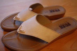 Bequeme Sandaletten in weiß Riemchen Gr. 38