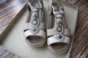 ara High-Heeled Sandals bronze-colored