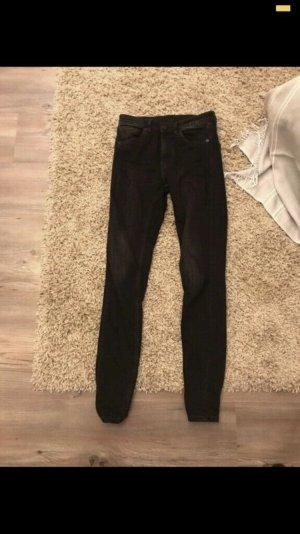Bequeme schwarz monki Jeans