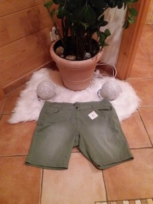 Denim Shorts green grey