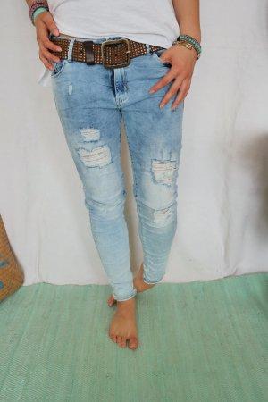Bequeme Skinny Jeans mit Rissen passt Gr.M