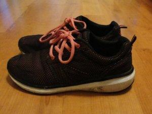 Bequeme Soft Gel Schuhe, schwarz-rosa, GR 40