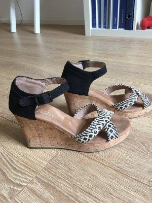 Toms Platform High-Heeled Sandal black-natural white