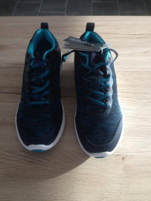Sneaker stringata blu scuro-turchese Sintetico