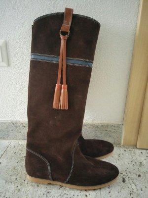 Tommy Hilfiger Jackboots dark brown