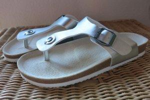 TCM Sandalias cómodas color plata