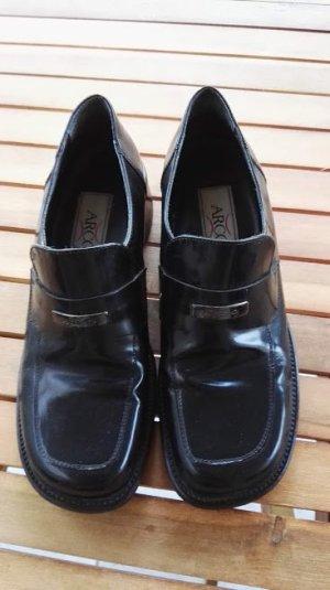 0039 Italy Slip-on noir cuir