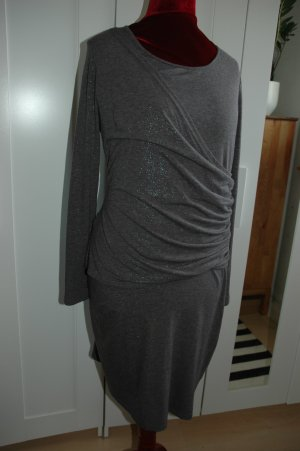 Midi Dress black-silver-colored