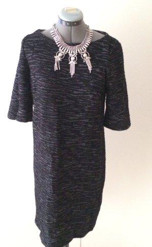 Midi-jurk zwart-wit