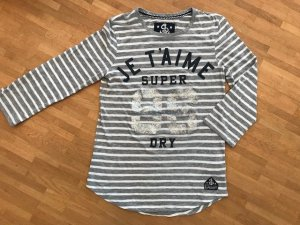 Superdry Stripe Shirt silver-colored-white