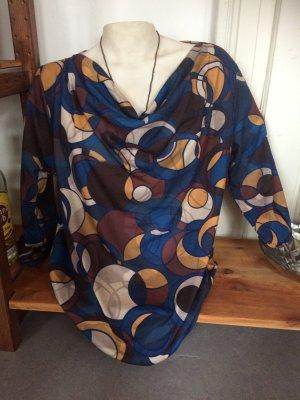 Laura Torelli Cowl-Neck Shirt multicolored