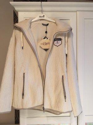 Giacca di lana bianco sporco-blu scuro Lana