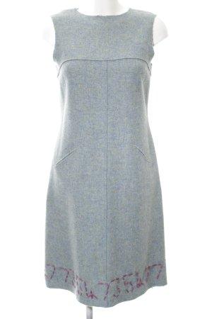 Bergdorf Goodman Vestido de lana gris claro-rosa estilo sencillo