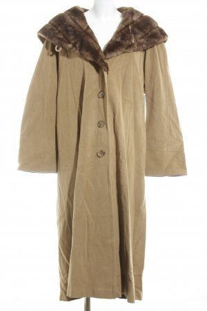 Berghaus Cappotto in eco pelliccia color cammello look vintage