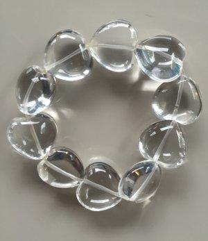 Bergrkristall-Armband, herzförmige Steine